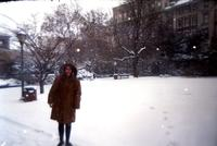 Snowy Day on Campus, 1996