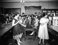 Summer School for Women Workers in Industry science lab, circa 1928