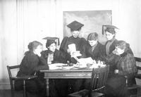 Mortarboard editors, 1897