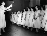 Barnard College Step Singing, 1951