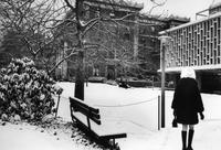 Barnard College Campus with Snow, circa 1960s