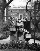Barnard Students with Baskets, circa 1940s