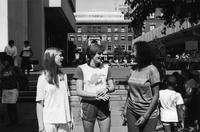 Students on Altschul/McIntosh Plaza, 1984