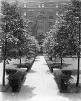 Pathway outside Brooks Hall, circa 1932