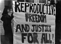 Reproductive rights protest, circa 1980s-90s