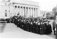 Parade on Columbia University Campus, November 11, 1918