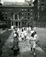 Barnard College tennis courts, 1953