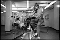 Barnard College weight room, circa 1987