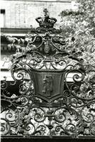 Barnard Bear on Geer Gates, circa 1960s