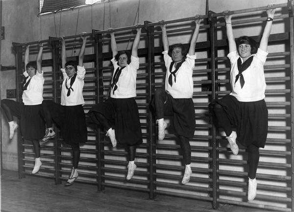 Students on Stall Bars, 1922