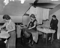 Summer School for Women Workers in Industry students ironing, 1928