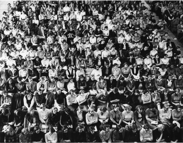 Barnard College assembly, 1940