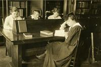 Students in Ella Weed library, circa 1910s