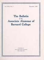 The Bulletin of the Associate Alumnae of Barnard College, December 1929
