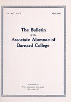 The Bulletin of the Associate Alumnae of Barnard College, May 1930
