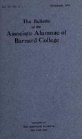 The Bulletin of the Associate Alumnae of Barnard College, December 1914