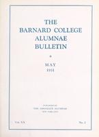 The Barnard College Alumnae Bulletin, May 1931