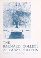 The Barnard College Alumnae Bulletin, December 1931