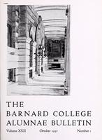 The Barnard College Alumnae Bulletin, October 1932