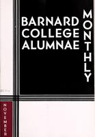Barnard College Alumnae Monthly, November 1933