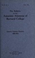 The Bulletin of the Associate Alumnae of Barnard College, June 1915