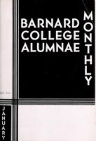 Barnard College Alumnae Monthly, January 1934