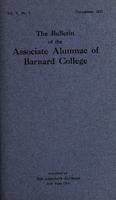 The Bulletin of the Associate Alumnae of Barnard College, December 1915