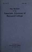 The Bulletin of the Associate Alumnae of Barnard College, June 1916