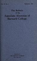 The Bulletin of the Associate Alumnae of Barnard College, December 1916