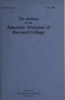 The Bulletin of the Associate Alumnae of Barnard College, June 1917