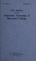 The Bulletin of the Associate Alumnae of Barnard College, December 1917