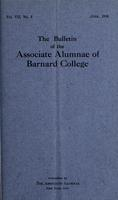 The Bulletin of the Associate Alumnae of Barnard College, June 1918