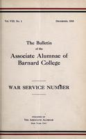 The Bulletin of the Associate Alumnae of Barnard College, December 1918