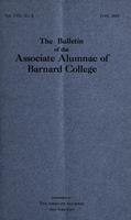 The Bulletin of the Associate Alumnae of Barnard College, June 1919