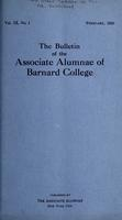 The Bulletin of the Associate Alumnae of Barnard College, February 1920