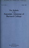 The Bulletin of the Associate Alumnae of Barnard College, April 1921