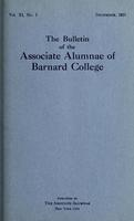 The Bulletin of the Associate Alumnae of Barnard College, December 1921