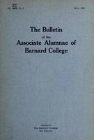 The Bulletin of the Associate Alumnae of Barnard College, May 1923