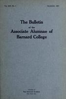 The Bulletin of the Associate Alumnae of Barnard College, December 1923