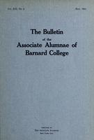 The Bulletin of the Associate Alumnae of Barnard College, May 1924