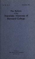 The Bulletin of the Associate Alumnae of Barnard College, December 1913