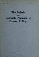 The Bulletin of the Associate Alumnae of Barnard College, December 1924