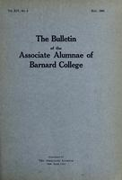 The Bulletin of the Associate Alumnae of Barnard College, May 1925