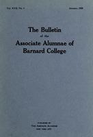 The Bulletin of the Associate Alumnae of Barnard College, January 1928