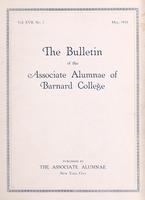 The Bulletin of the Associate Alumnae of Barnard College, May 1928