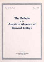 The Bulletin of the Associate Alumnae of Barnard College, May 1929