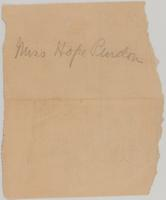 Frances Hope Purdon Leavitt Scrapbook, 1901-1910, page 2, Inclusion 6