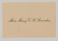 Mary Catherine Reardon Scrapbook, 1903-1911, page 7, Inclusion 4