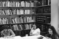 Three Students in the BCRW office, 1996