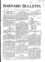 Barnard Bulletin, April 8, 1901